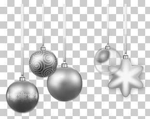 Christmas Ornament Silver PNG