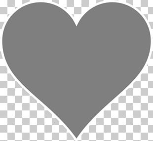 Heart Grey PNG