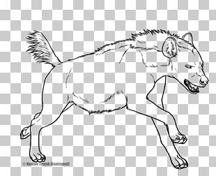 Striped Hyena Line Art Drawing Spotted Hyena PNG