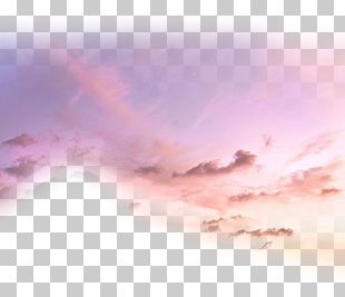 Cloud Sunset Afterglow PNG