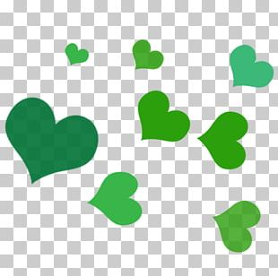 Leaf Green Heart PNG