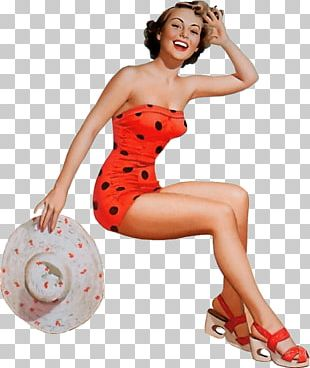 Pin-up Girl Retro Style Vintage Clothing Rockabilly PNG