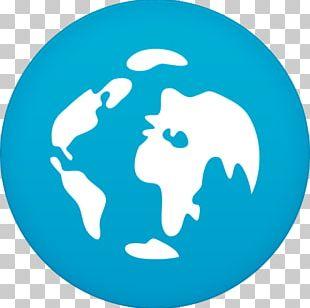 Blue Fish Logo Globe Aqua PNG