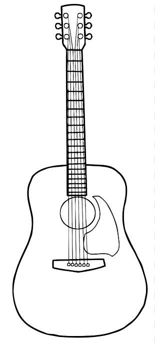 Acoustic Guitar Drawing PNG