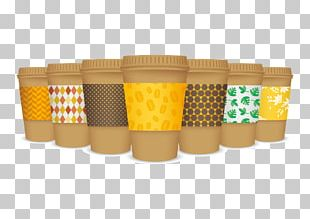 Coffee Bean Cafe Coffee Cup Sleeve PNG