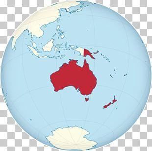 Prehistory Of Australia Globe World Map PNG