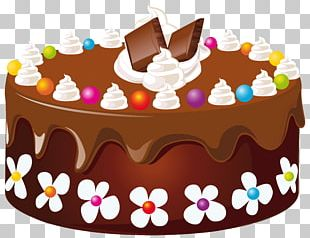 Chocolate Cake Birthday Cake Icing Wedding Cake Layer Cake PNG