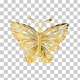 Butterfly Gold Jewellery PNG
