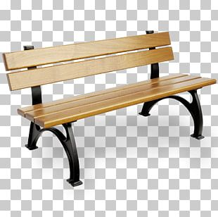 Bench Table Lumber Garden Cast Iron PNG