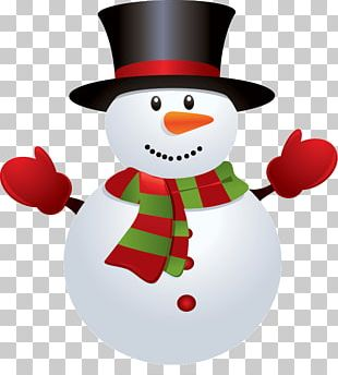 Snowman Red Green PNG