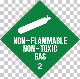 Dangerous Goods HAZMAT Class 2 Gases Combustibility And Flammability Label PNG