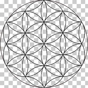 Overlapping Circles Grid Sacred Geometry Symbol PNG