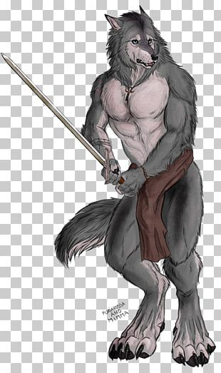 Werewolf Gray Wolf Sword Drawing Wererat PNG