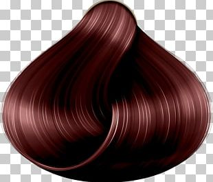 Hair Coloring Mahogany Violet Brown PNG