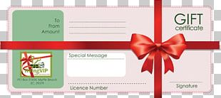 Gift Card Template Voucher PNG