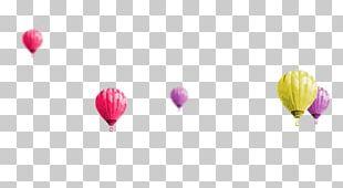Hot Air Balloon Desktop Petal Heart PNG