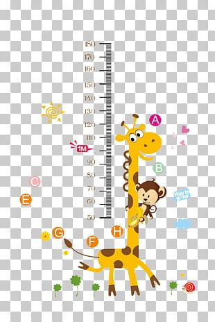 Growth Chart Child Wall Decal Nursery PNG