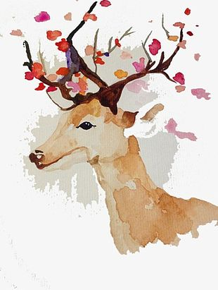 Painted Deer PNG