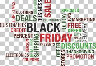 Black Friday Cyber Monday Retail Word Discounts And Allowances PNG