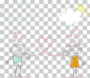 Cartoon Drawing Love Couple PNG