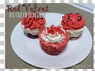 Cupcake Red Velvet Cake Muffin Buttercream PNG