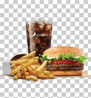 Whopper Cheeseburger French Fries Hamburger Fast Food PNG