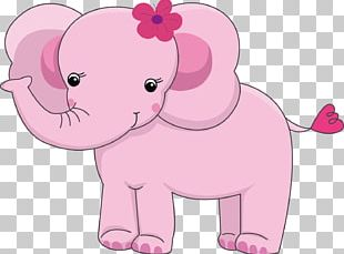 Elephant Infant Cuteness Baby Shower PNG