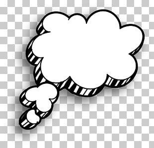White Cloud Speech Balloon Drawing PNG