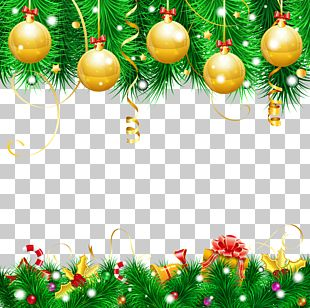 Christmas Decoration Background PNG