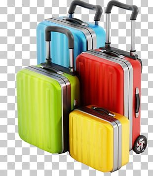 Suitcase Travel Baggage Backpack Trunk PNG