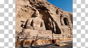 Yungang Grottoes Wonders Of The World Seated Buddha From Gandhara Stone Carving Archaeological Site PNG