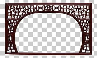 Frames Wood Carving Mirror PNG