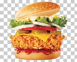 Hamburger Fried Chicken Chicken Sandwich Fast Food French Fries PNG