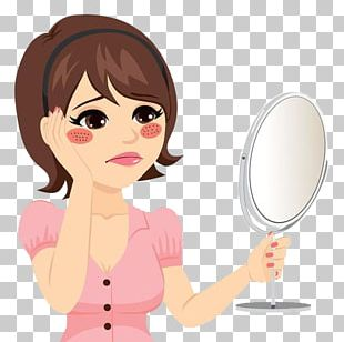 Sadness Woman Cartoon Illustration PNG