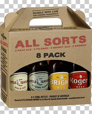 Little Creatures Brewery Beer Bottle Alcoholic Drink Carton PNG