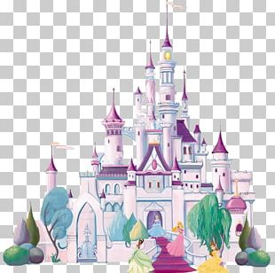 Mural Wall Decal Disney Princess Castle PNG