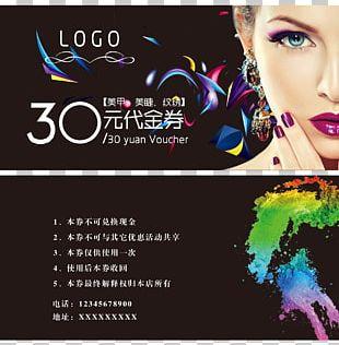 Nail Art Advertising Poster Nail Polish PNG