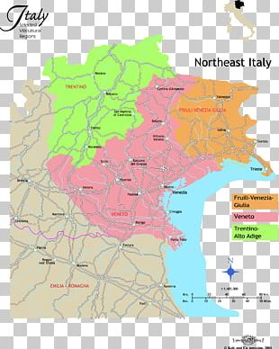 Map Of North East Italy.Wales North East Italy London Southern Italy European Parliament