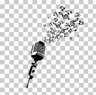 Microphone Musical Note Drawing PNG