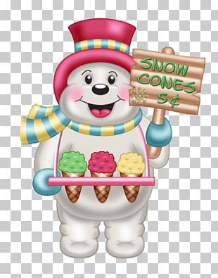 Ice Cream Snowman Christmas PNG