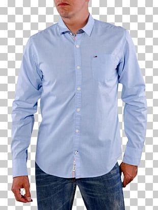 Dress Shirt End-on-end Jeans Blue PNG