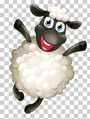 Sheep Cartoon Sticker PNG