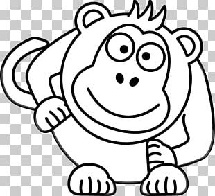 Black And White Cartoon Drawing PNG