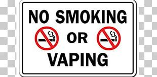 Signage Electronic Cigarette Smoking PNG