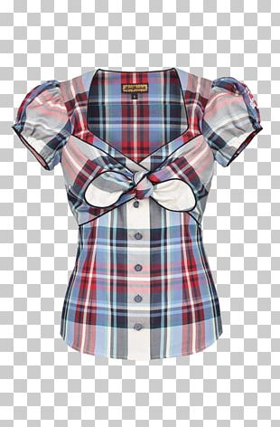 Blouse Tartan Sleeve Button Barnes & Noble PNG