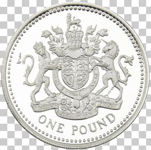 Coin Silver One Pound Pound Sterling PNG