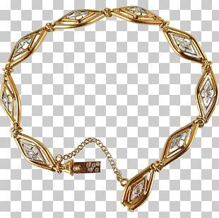 Bracelet Art Nouveau Gold Diamond Cut Antique PNG
