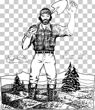 Paul Bunyan And Babe The Blue Ox Coloring Book Drawing Tall Tale PNG