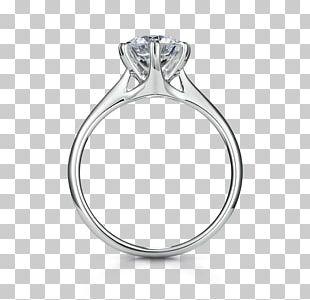 Engagement Ring Diamond Cut Wedding Ring PNG