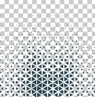 Triangle Black And White Pattern PNG